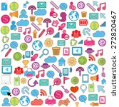 social network background with... | Shutterstock .eps vector #272820467