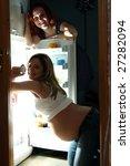 the pregnant woman near a... | Shutterstock . vector #27282094