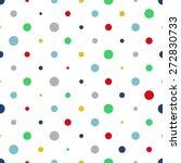 colorful seamless polka dot... | Shutterstock .eps vector #272830733