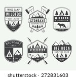 set of vintage camping labels ... | Shutterstock .eps vector #272831603