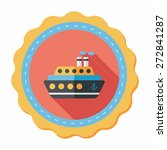 transportation ferry flat icon... | Shutterstock .eps vector #272841287
