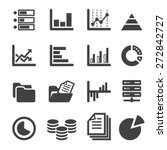 data icon set | Shutterstock .eps vector #272842727