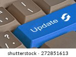 keyboard with key for update | Shutterstock . vector #272851613