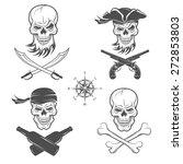 a set of emblems of skulls on... | Shutterstock .eps vector #272853803