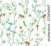 seamless floral pattern. vector ... | Shutterstock .eps vector #272856047