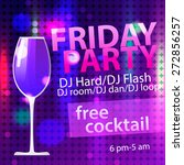 bright friday party free... | Shutterstock .eps vector #272856257