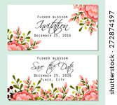 flower blossom. romantic...   Shutterstock .eps vector #272874197