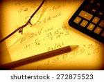 advanced physics and maths... | Shutterstock . vector #272875523