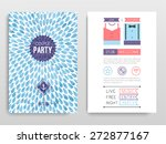 party flyer. vector... | Shutterstock .eps vector #272877167