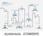 chemistry infographic vector... | Shutterstock .eps vector #272885093
