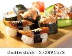 Japanese Cuisine   Eel Sushi...