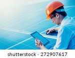 engineer solar photovoltaic... | Shutterstock . vector #272907617