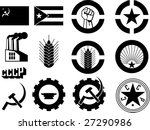 revolution icons set