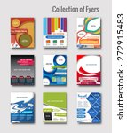 set of flyer   poster design in ... | Shutterstock .eps vector #272915483