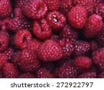Raspberries Background   Cloae...