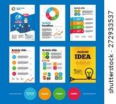 brochure or flyers design.... | Shutterstock .eps vector #272933537