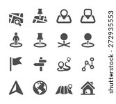 map icon set 2  vector eps10. | Shutterstock .eps vector #272935553