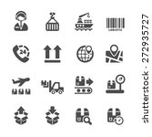 logistic icon set 2  vector... | Shutterstock .eps vector #272935727