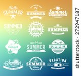 colorful summer typography... | Shutterstock .eps vector #272947187