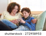 portrait of a loving mother... | Shutterstock . vector #272958953
