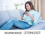 Pretty Woman Doing Online...
