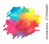 colorful watercolor stain with... | Shutterstock .eps vector #272964683