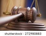 wooden gavel barrister  justice ... | Shutterstock . vector #272980883