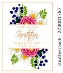 flower blossom. romantic... | Shutterstock .eps vector #273001787