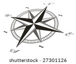 black compass rose   vector | Shutterstock .eps vector #27301126