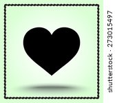 heart sign icon  vector... | Shutterstock .eps vector #273015497