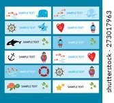 vector set of cards on the... | Shutterstock .eps vector #273017963