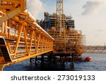 oil and gas platform in the... | Shutterstock . vector #273019133