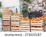 Fresh Crop Of Oranges In Woode...