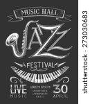 vector poster jazz festival on... | Shutterstock .eps vector #273030683