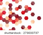 red cube retro pattern... | Shutterstock .eps vector #273033737