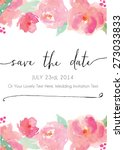 modern calligraphy save the... | Shutterstock .eps vector #273033833