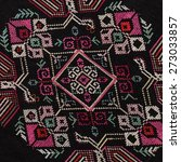 ethnic embroidery pattern... | Shutterstock . vector #273033857