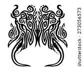 chinese ink demon tattoo art.    Shutterstock .eps vector #273056573