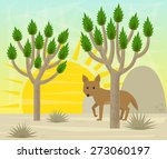 Joshua Tree And Coyote  ...
