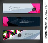 set of 3d horizontal polygonal... | Shutterstock .eps vector #273062447