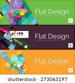 flat design vector infographic... | Shutterstock .eps vector #273063197