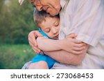 portrait of happy grandson... | Shutterstock . vector #273068453