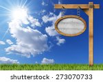 Oval Sign With Frame Chain And...