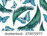beautiful seamless vector... | Shutterstock .eps vector #273072977