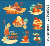 summer retro typography set | Shutterstock .eps vector #273085013
