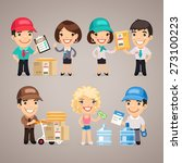 delivery service characters set.... | Shutterstock .eps vector #273100223
