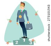 businessman in first place of... | Shutterstock .eps vector #273101543