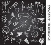the design elements in vintage...   Shutterstock .eps vector #273109223