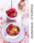 concept of healthy breakfast... | Shutterstock . vector #273109313