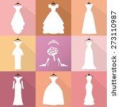 wedding dresses icons.... | Shutterstock .eps vector #273110987